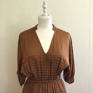 & Other Stories Golden Empire Waist Dress size 4